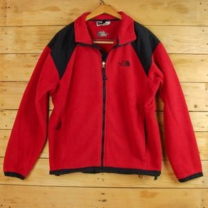 The North Face Red Full Zip Fleece - VTG, USA Made